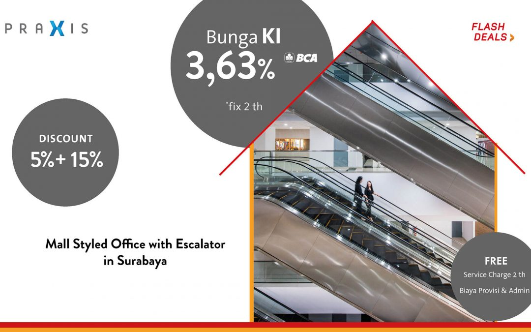 Mall Styled Office with Escalator in Surabaya